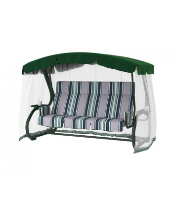 Садовые качели LeSet 904 Зеленые Премиум, четырехместные