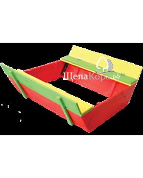 Цветная детская песочница (130*130*35)