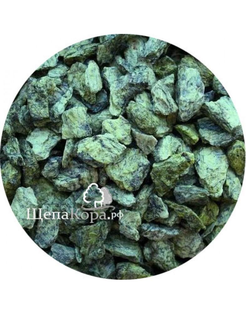 Камень змеевик для декоративной обсыпки, фракция 2-4 см