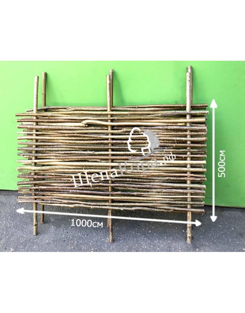 Плетень на дачу, забор из орешника