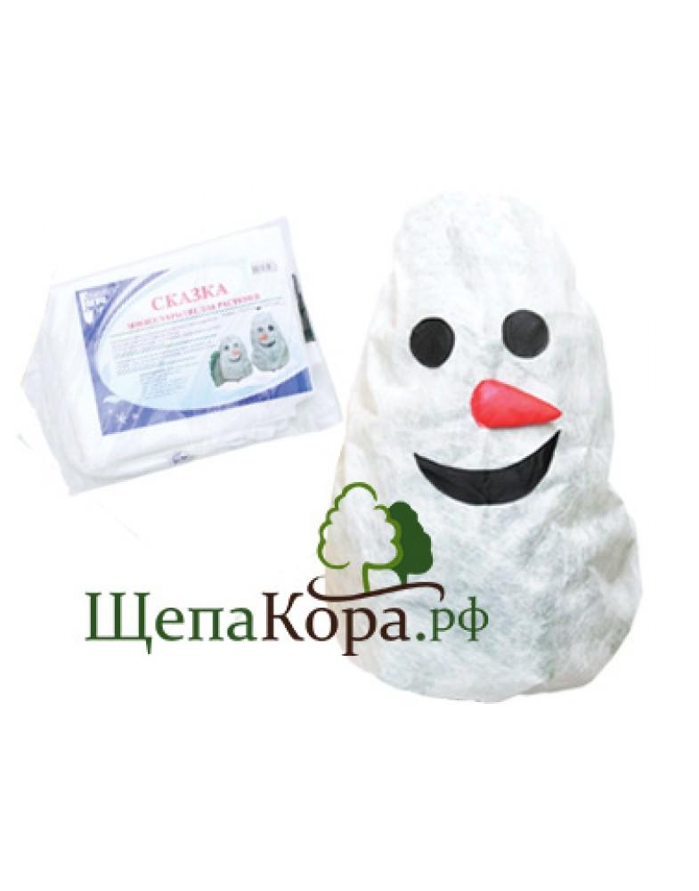 """Чехол для растений с УФ защитой """"Снеговик"""""""