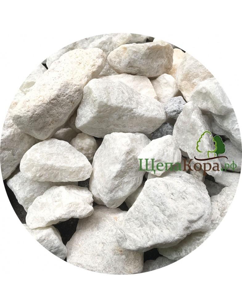 Мраморная крошка белая, фракция 4-7 см