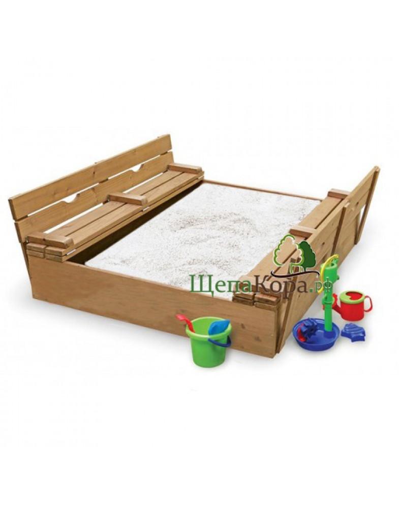 Песочница для детского сада с крышкой и прокаленным песком
