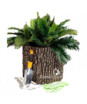 Горшок-цветочница вертикальный, дуб (L)