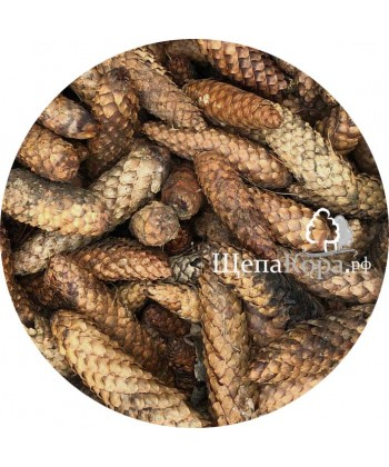 Еловые шишки в мешках 60 литров