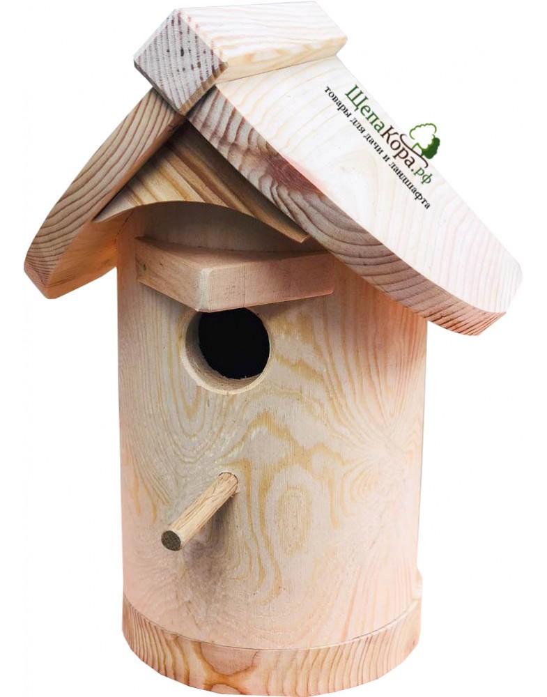 Надежный скворечник для птиц из массива дерева