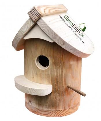 """Скворечник-бельчатник для птиц и белок из дерева """"Удобный"""""""