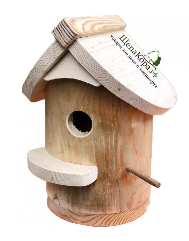 Удобный скворечник для птиц или бельчатник из массива дерева для белок