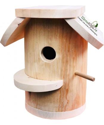 """Скворечник-бельчатник для птиц и белок из дерева """"Мощный"""""""