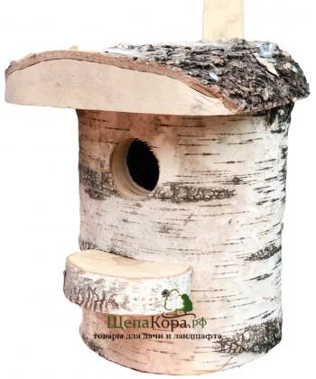 """Скворечник-бельчатник для птиц и белок из дерева """"Берёзовый"""""""