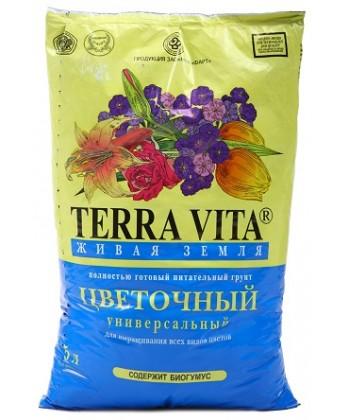 Цветочный грунт Терра Вита, 50 л