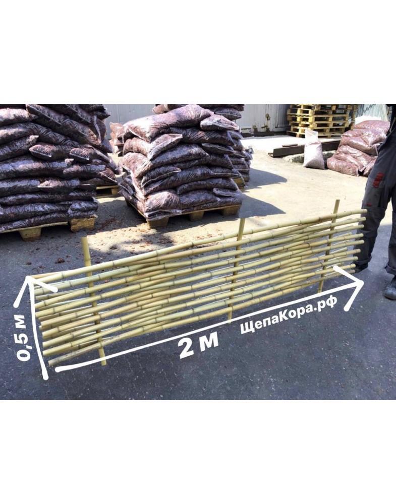 Забор из бамбука плетеный с манильским канатом