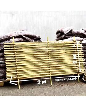 Забор из бамбука с манильским канатом (плетеный), 1 х 2 м