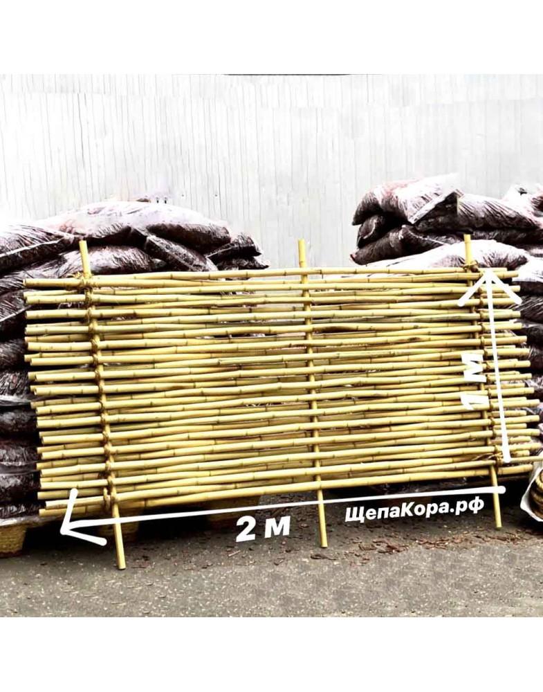 Декоративный бамбук в виде забора (плетеный)