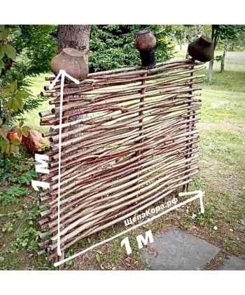 Плетеный забор из веток орешника, 1 х 1 м