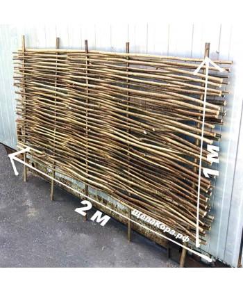 Плетеный забор из веток орешника, 1 х 2 м