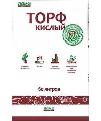 Торф кислый (Ph 3,5-4,5), 60 л