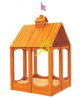 """Деревянная песочница """"Замок"""" с крышей"""