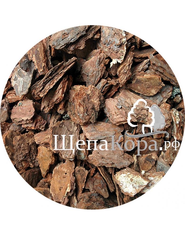 Кора сосны для мульчирования, фракция 4-8 см