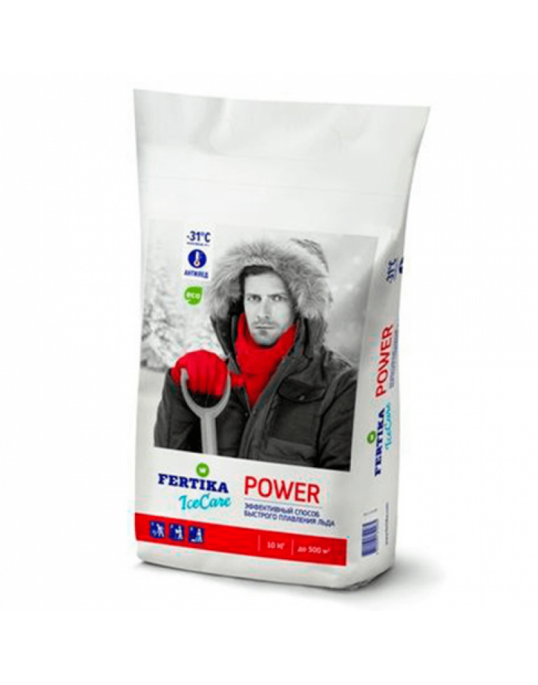 Противогололедный реагент FERTIKA ICECARE POWER -31°C (10 кг.)