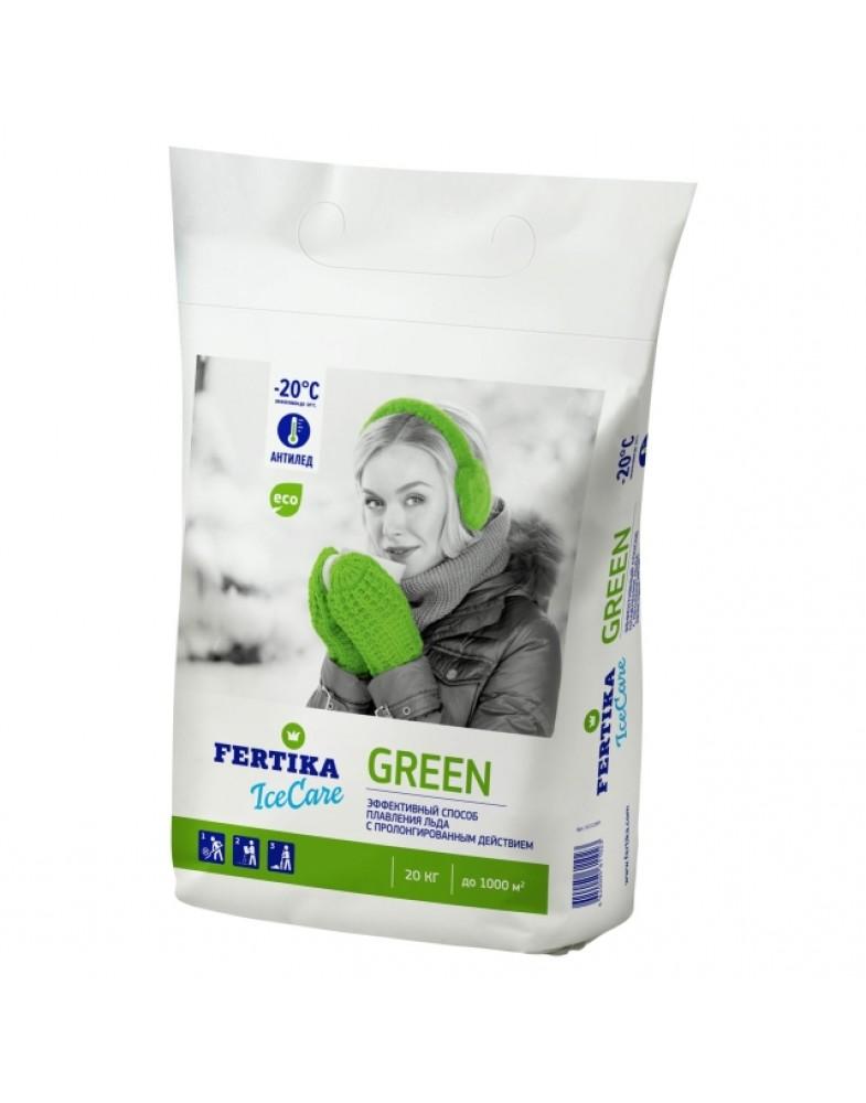 Противогололедный реагент FERTIKA ICECARE GREEN -20°C (20 кг.)